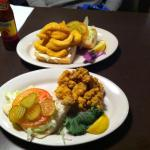 1/2 oyster & 1/2 fish poboy