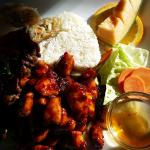 Dinner special with delicious spicy chicken!