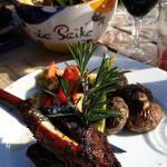 La souris d'agneau au paprika au barbecue.  Un régal juste parfait