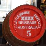 XXXX Beer in a Wooden Barrel