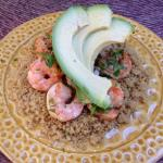 Shrimp over couscous