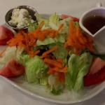 The house salad with balsamic & Gorgonzola crumbles...