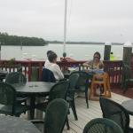 Outdoor dining overlooking the Marco River