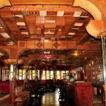 The atmospheric bar at Dib Anbessa Hotel