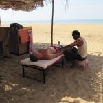 good massage on the beach