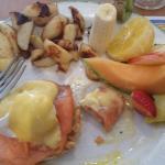 Eggs benedictine with salmon. Delicious!