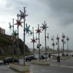 Molinos de viento en el paseo Adolfo Dávila