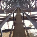 The cat walk under the New River Gorge Bridge