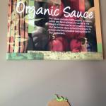 Organic Sauce sign