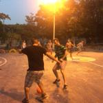 Group played soccer with the locals