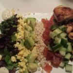 Smoked salmon chopped salad