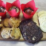 A small range of our brownies and biscuits