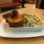 Creamy Mushroom Fusilli with Classic Garlic Bread