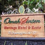 The sign of the hotel