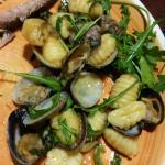 Gnocchi with clams....delicious!
