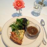 Soup + salad + quiche