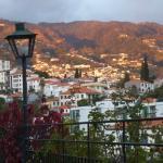 Sun setting glows on the Funchal east hills