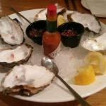 the remains of the lovely oysters......