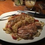 Chicken and shrimp no rules pasta