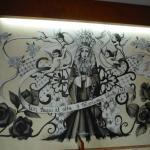 Wonderful murals inside the restaurant.