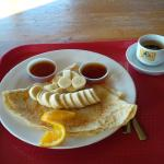 Crepes w/ banana and an Espresso