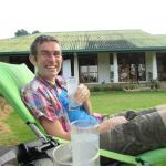 G and T on top lawn of Jungle tide