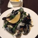 Starter of mussels.