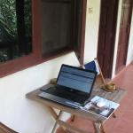 "And my ""workingspace"" on the balcony"