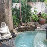 Heated outdoor buddha plunge pool
