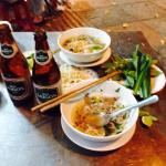 $5 pho and 2 beers