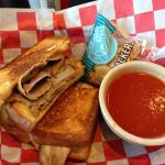 Grilled Cheese with Roast Beef & Classic Tomato Soup