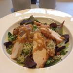 Satay chicken salad with lime rice