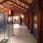 Inside the visitors centre