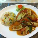 calamars à la sauce aigre-douce (plat chaud)