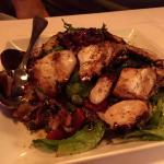 Charred octopus with roasted red peppers, capers & red wine dressing the (best I ever had, it wa