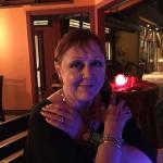 Donna at dinner
