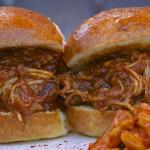 Pulled Pork Sliders Braised Pork Belly, House Made Barbecue Sauce, Pepperocini Peppers, BREAD Sw