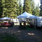 Our campsite in Wallowa state park