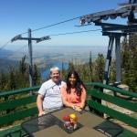 My wife and I enjoying the view at the Summit grill