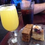 Complimentary pastries and a mimosa for brunch! The waitress was super nice and attentive. I lov