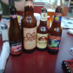 Beer choices we had