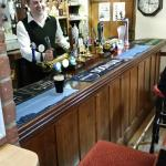 Simon behind the bar at The White Horse, Chedgrave