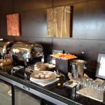 Weekend breakfast in exec lounge