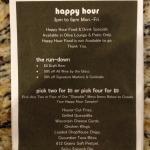 Bar happy hour weekdays