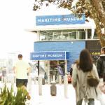 Museum exterior in Viaduct Harbour