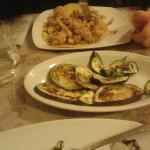 Frittura e contorno di verdure alla griglia