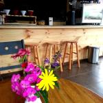 We are small shop, with a few great coffees, here a quick view of our ambiance and decoration!