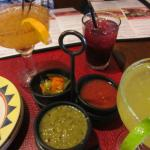 Salsas, spicy carrots and top notch drinks