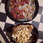 Selection of Cured Meats & Popcorn with Salted Caramel Sauce
