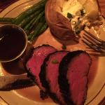 Whiskey rubbed filet was very good